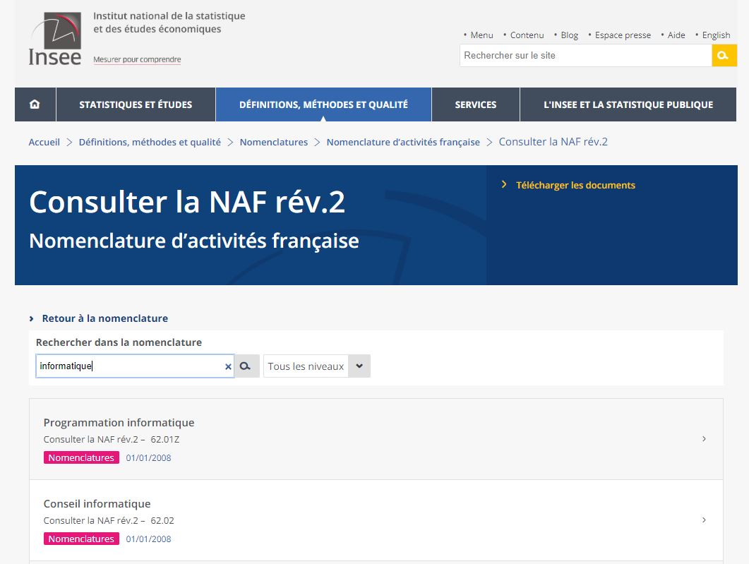 insee-trouver-code-naf